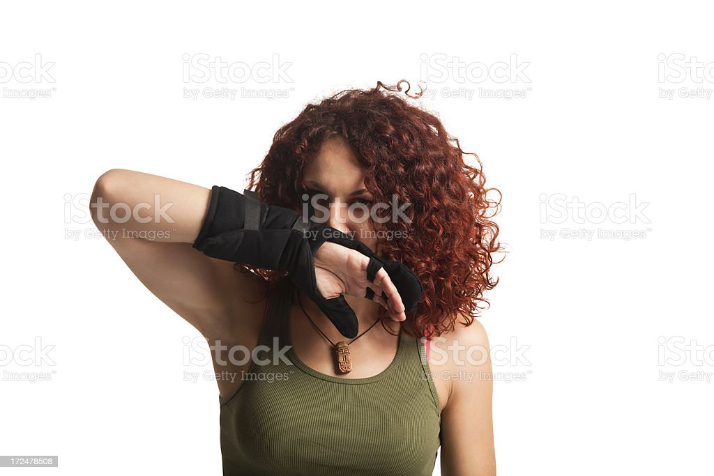 Portrait Of Young Red Haired Woman royalty-free stock photo