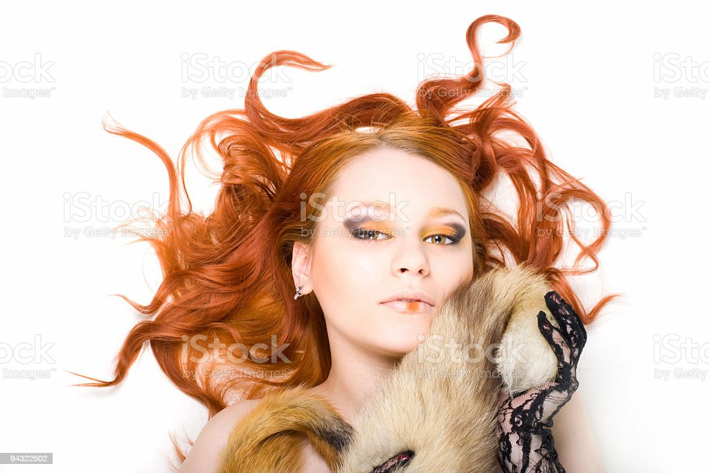 Portrait of young redhair girl royalty-free stock photo