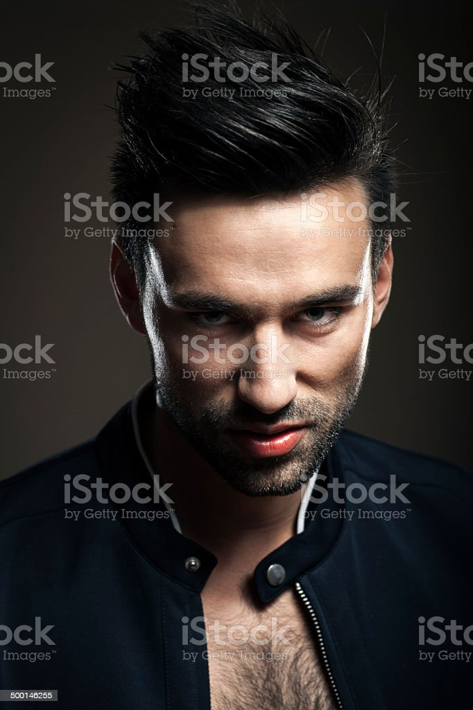 Portrait Of Young Serious Man royalty-free stock photo