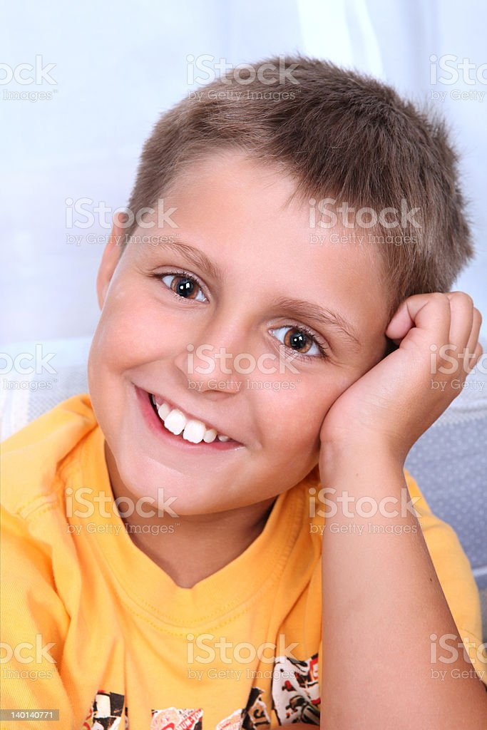 Portrait of young smiling boy. royalty-free stock photo