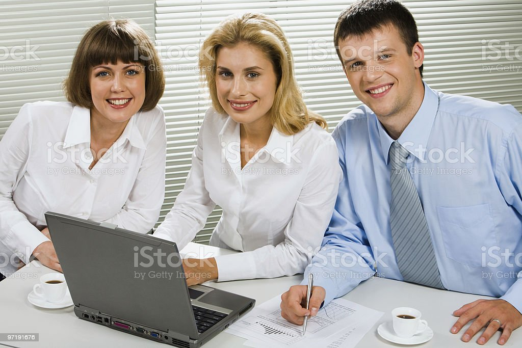 Portrait of young specialists royalty-free stock photo
