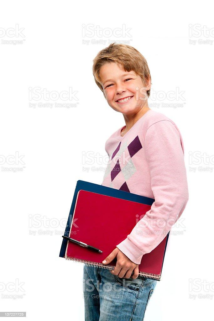 Portrait de jeune étudiant tenant ordinateur portable photo libre de droits