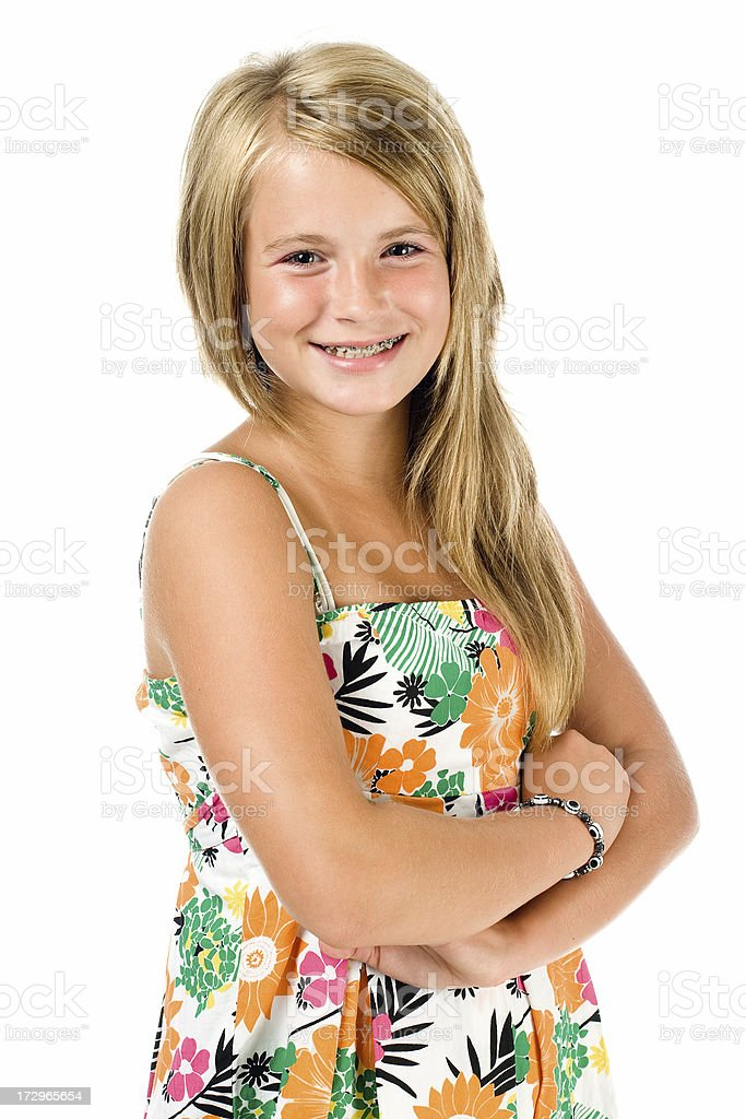 portrait of young teenage girl royalty-free stock photo