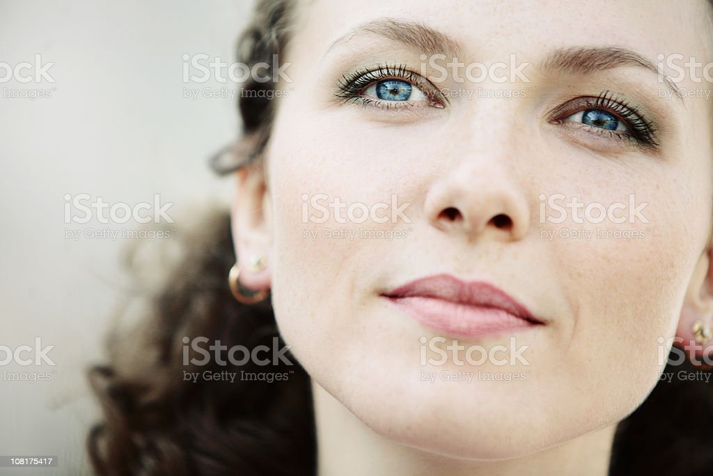 Portrait of Young Woman Looking Away royalty-free stock photo