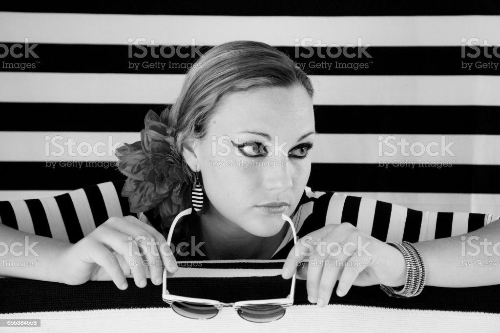 Portrait of young woman. stock photo