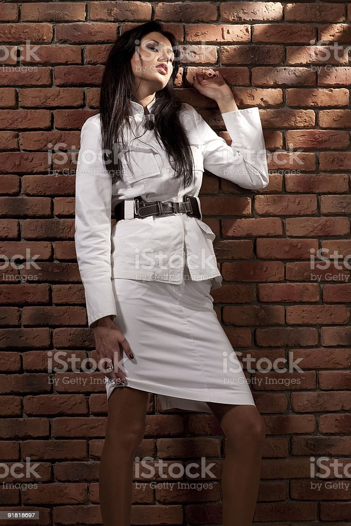 Portrait of young woman. royalty-free stock photo