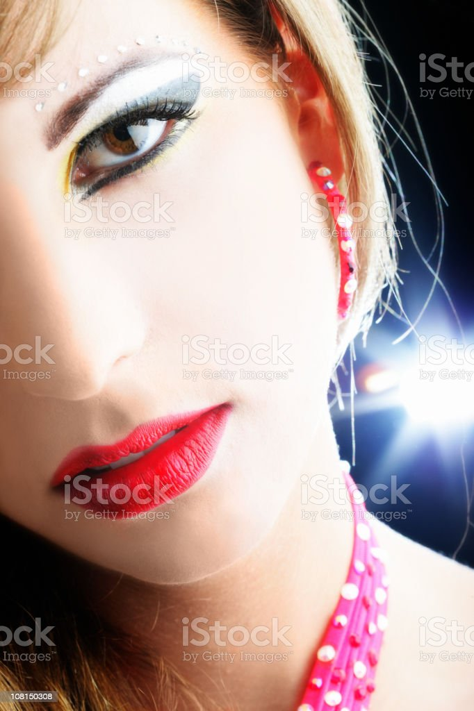 Portrait of Young Woman With Crazy Makep-up royalty-free stock photo
