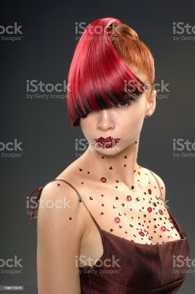 Portrait of Young Woman With Trendy Hair Style royalty-free stock photo