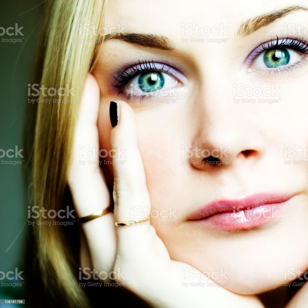 Portrait of Young Woman's Face royalty-free stock photo
