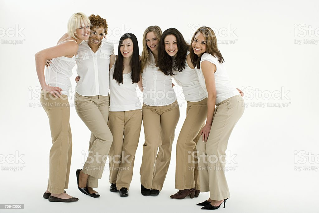 Portrait of young women royalty-free stock photo
