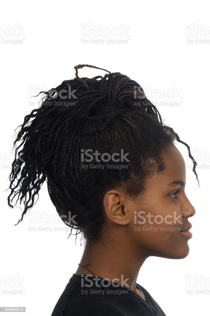 portrait of yung black woman, stock photo