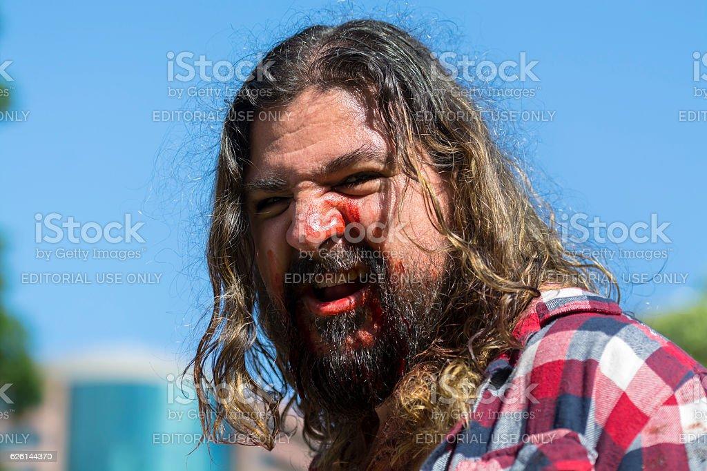 Portrait of zombie stock photo