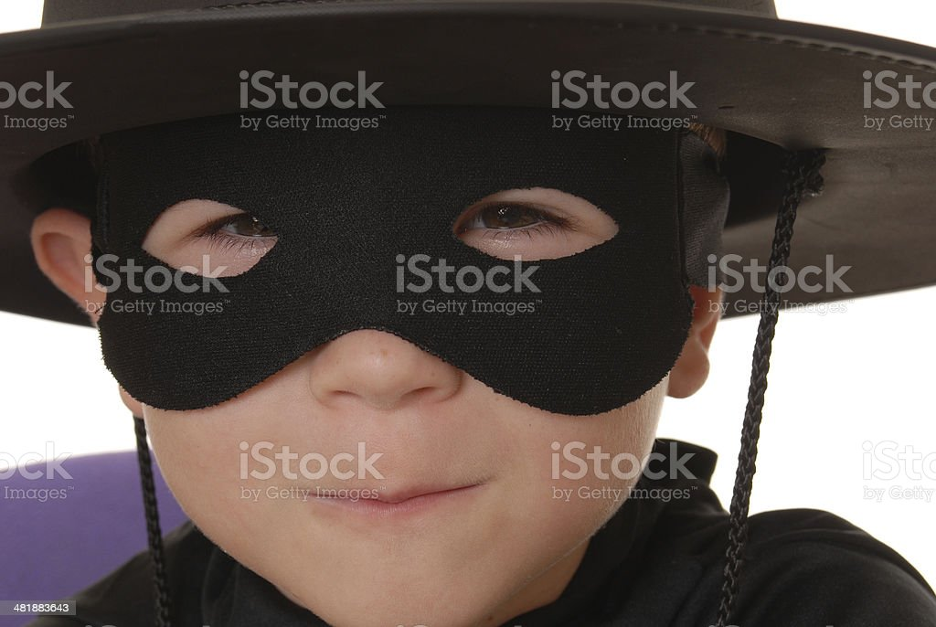Portrait of Zorro 4 royalty-free stock photo