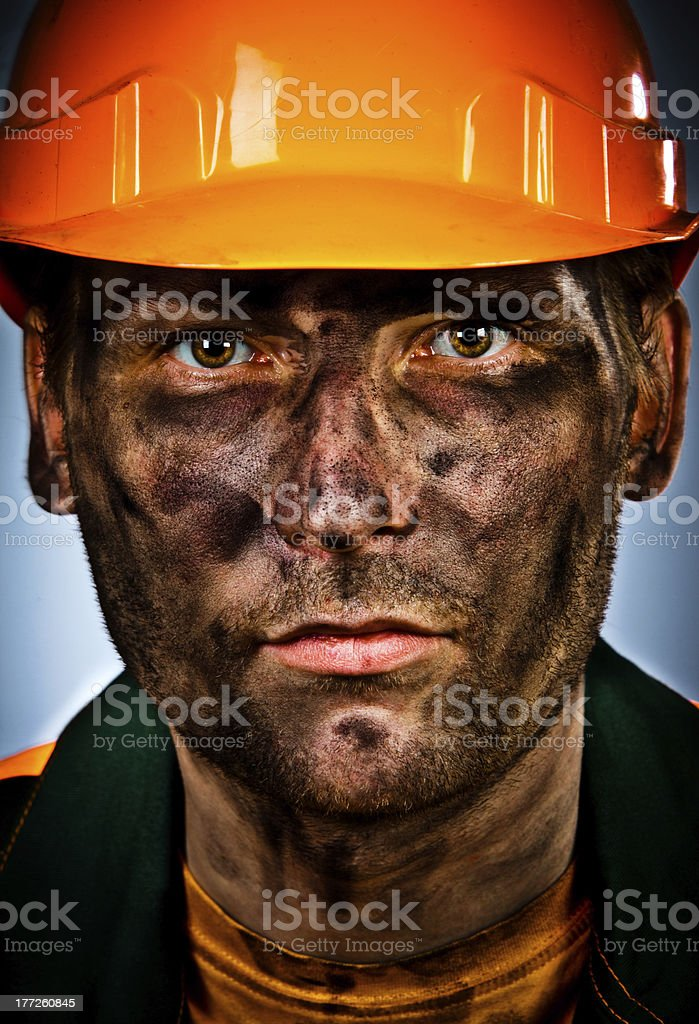 portrait oil industry worker royalty-free stock photo