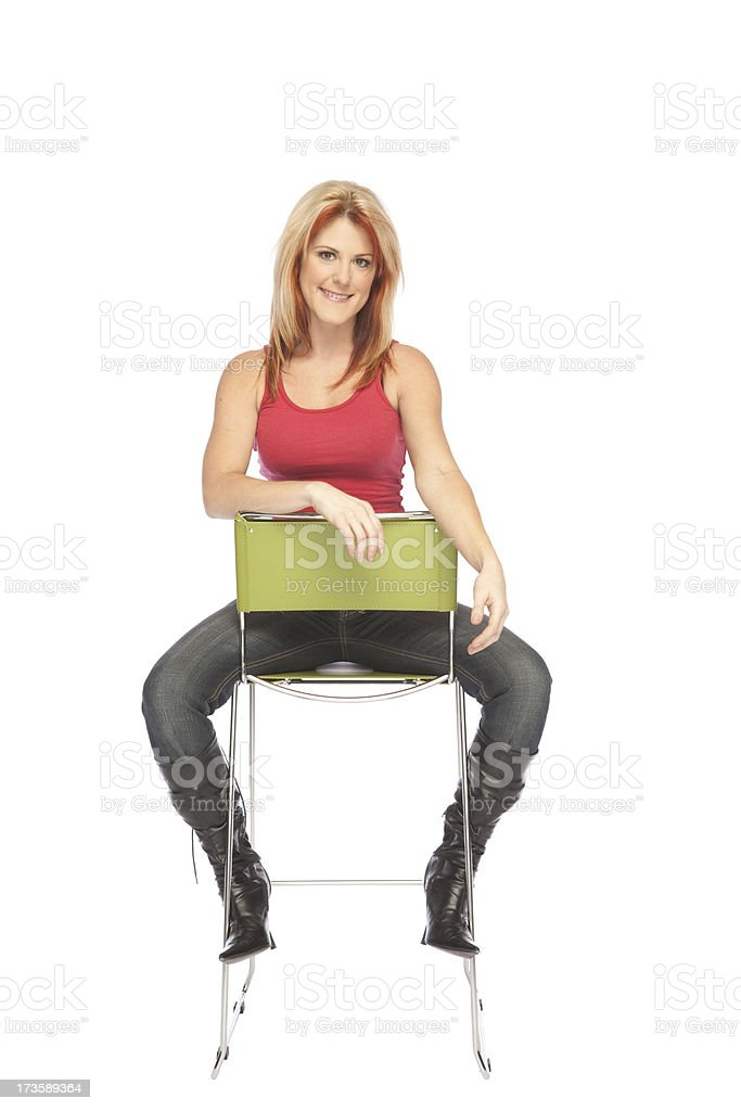 Portrait on Chair stock photo