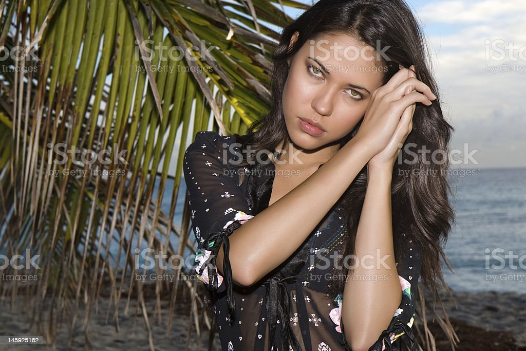 Portrait on the beach stock photo