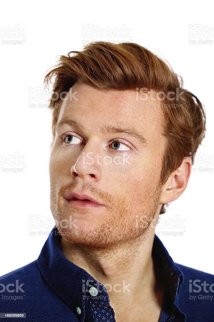 Portrait over white stock photo