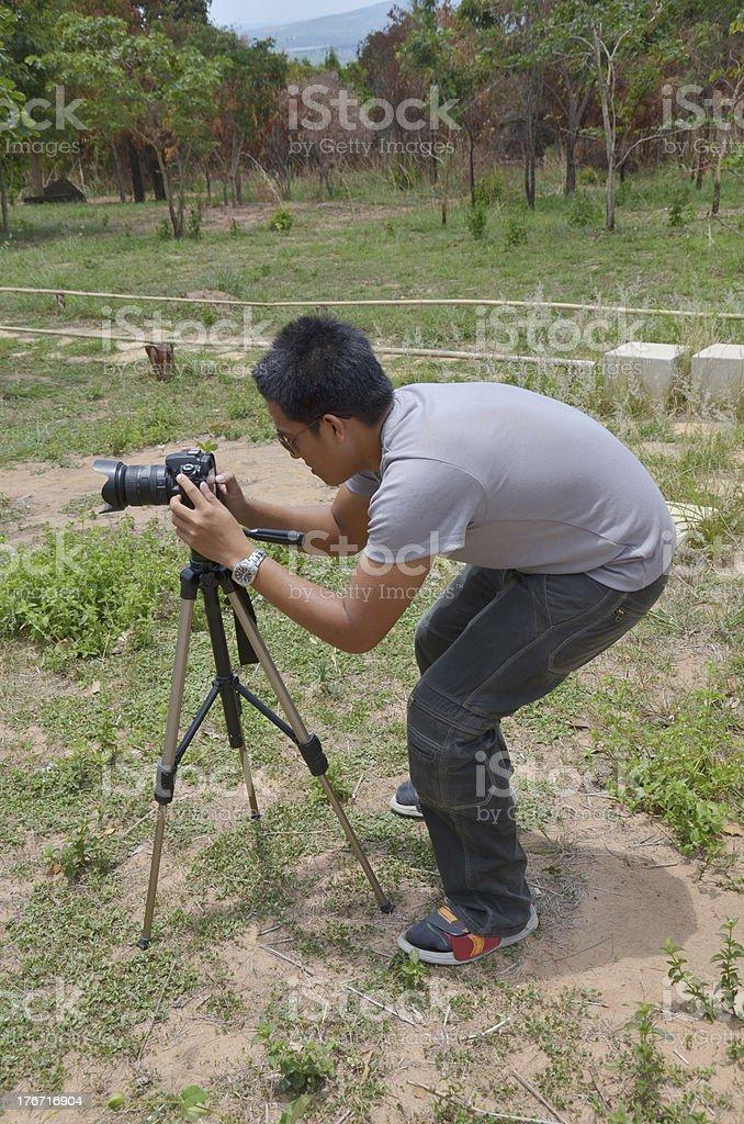 Portrait Photographer at Stonehenge of CHAIYAPHUM Thailand royalty-free stock photo