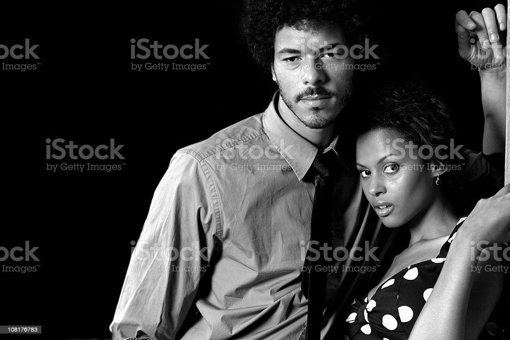 B&W Portrait stock photo
