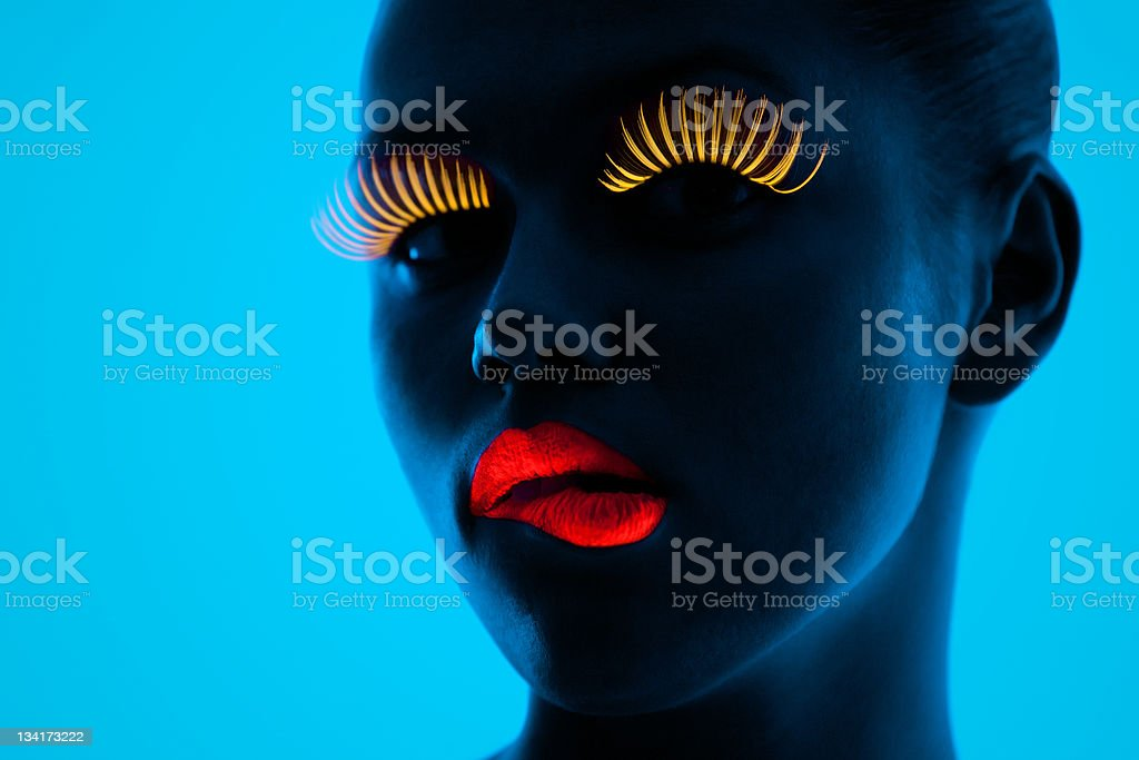 UV portrait stock photo