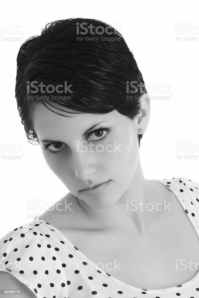 B&W Portrait royalty-free stock photo