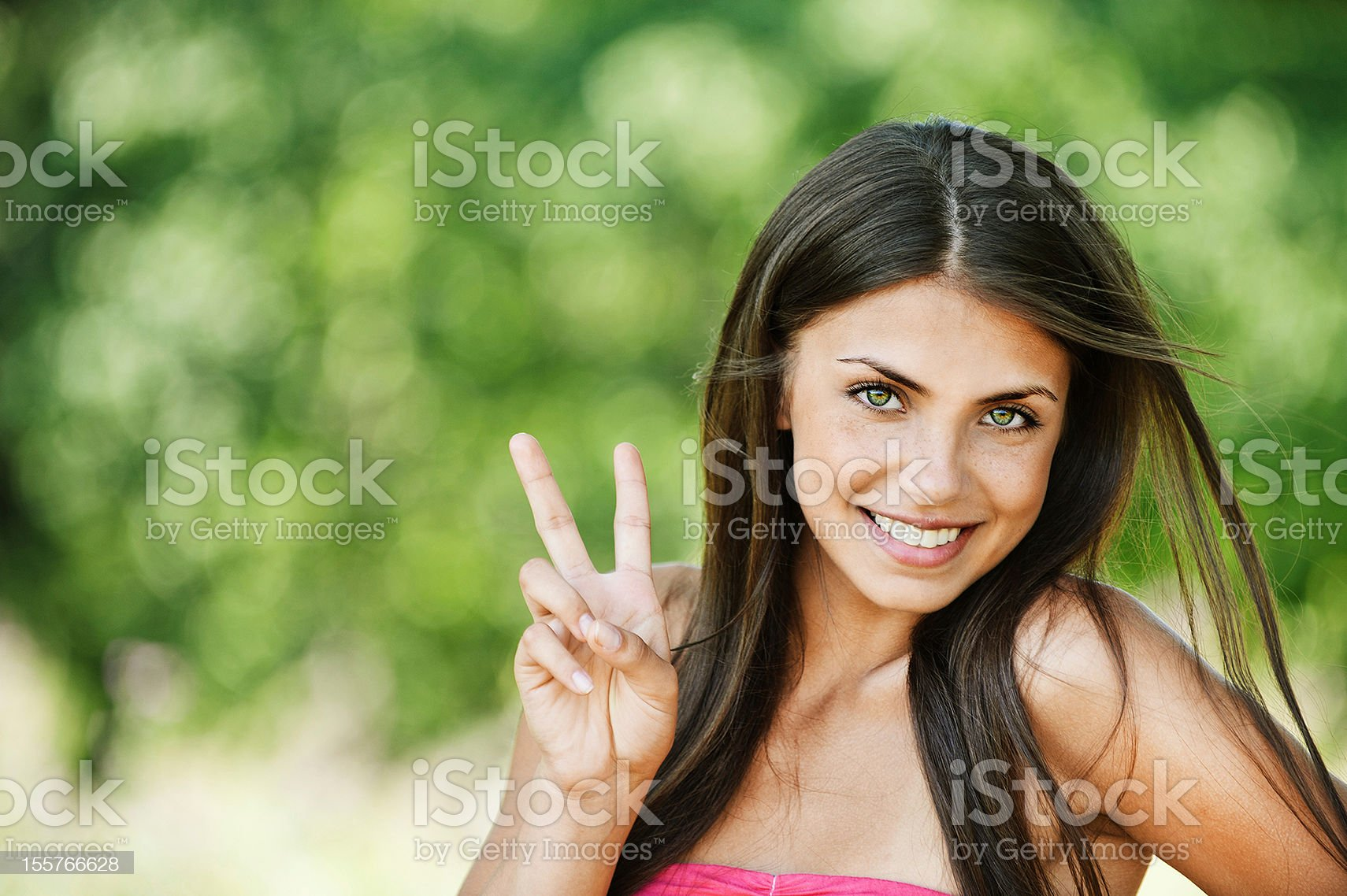 portrait pretty young brunette royalty-free stock photo