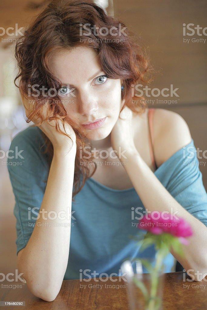portrait redhead woman royalty-free stock photo