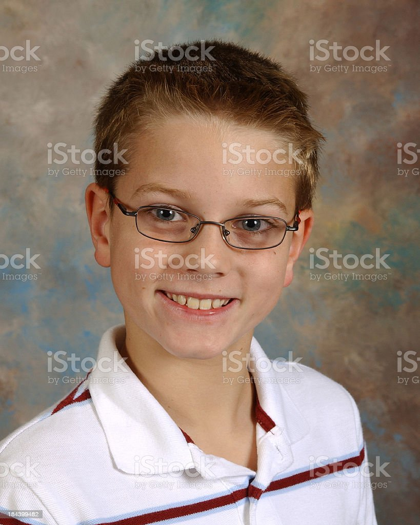 Portrait, School Yearbook Picture Boy Age Nine stock photo