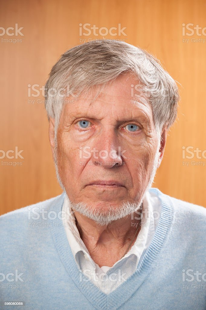 portrait senior man. stock photo