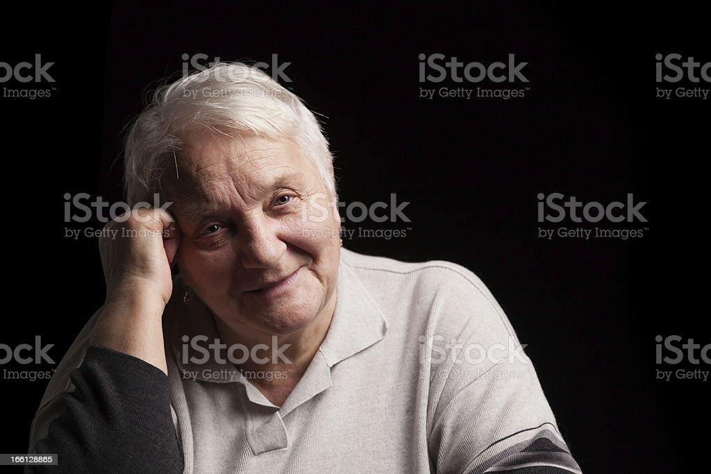 Portrait senior woman royalty-free stock photo
