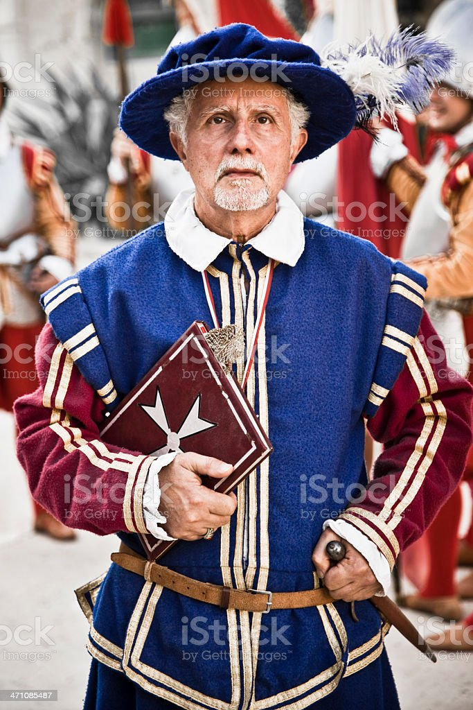 Portrait Series Knight Hospitaller Malta IV royalty-free stock photo