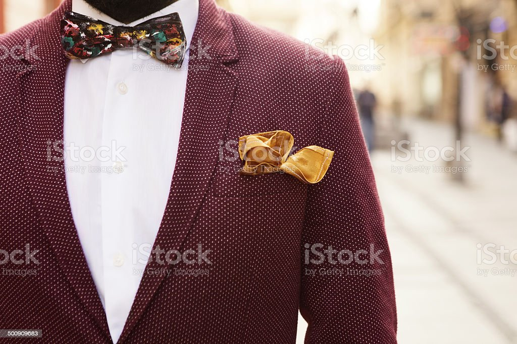 portrait shot of vintage suit stock photo