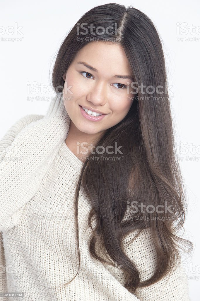 Portrait shot of Young Asian Woman royalty-free stock photo
