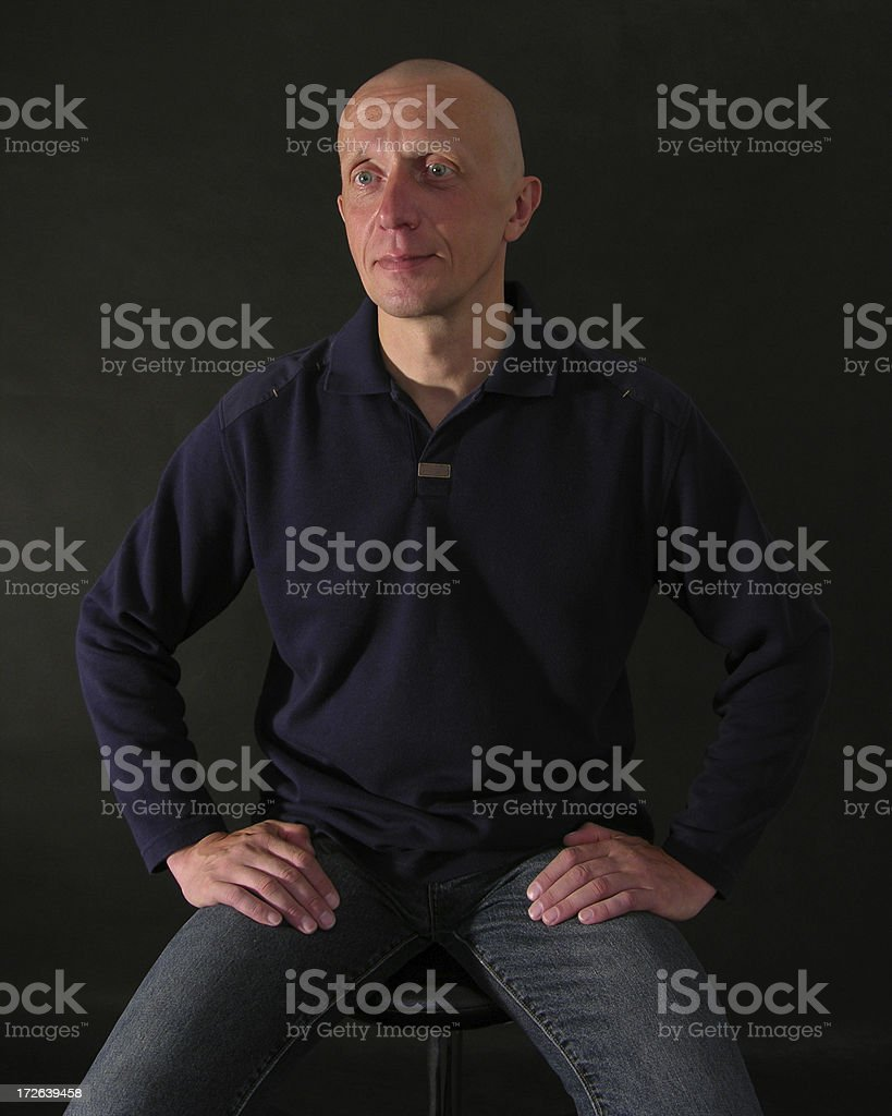 Portrait sitting men stock photo