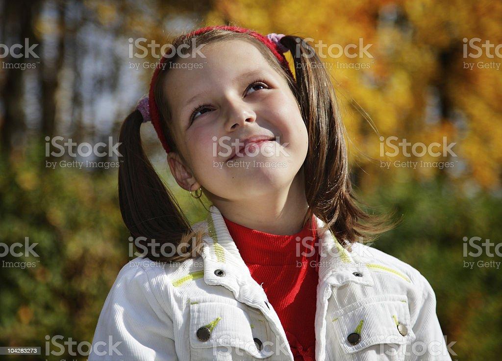 Portrait smiling girls royalty-free stock photo