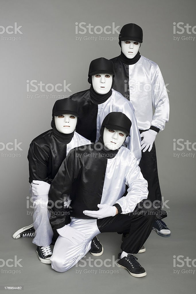 Portrait team of young break dancers royalty-free stock photo