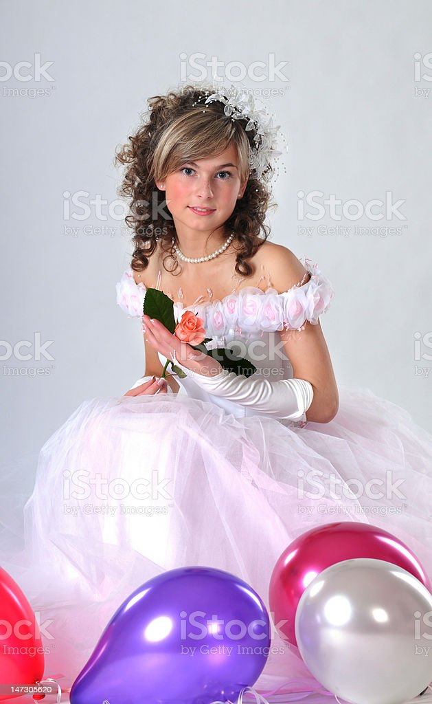 Portrait the young bride royalty-free stock photo