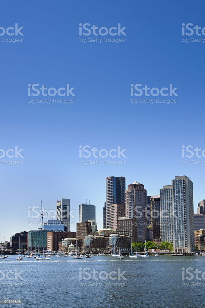 Portrait view of an American port from the Inner Harbor royalty-free stock photo
