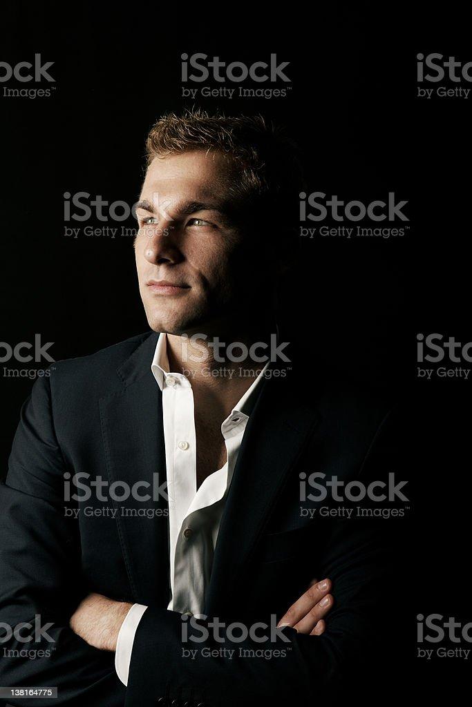 Portrait with Black Background stock photo