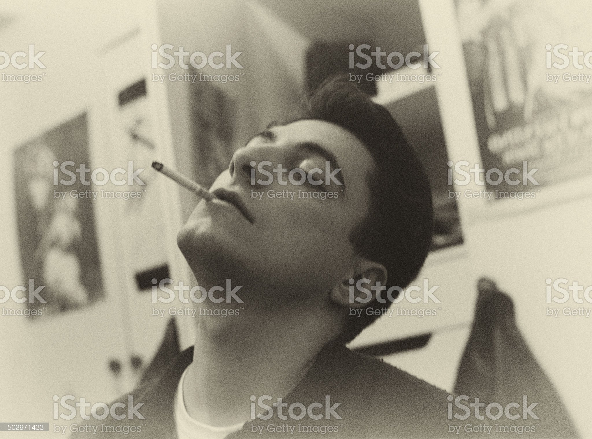 Portrait with Cigarette royalty-free stock photo