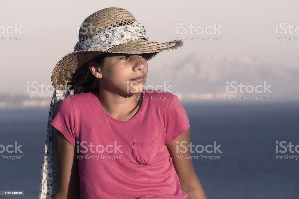 Portrait with hat royalty-free stock photo