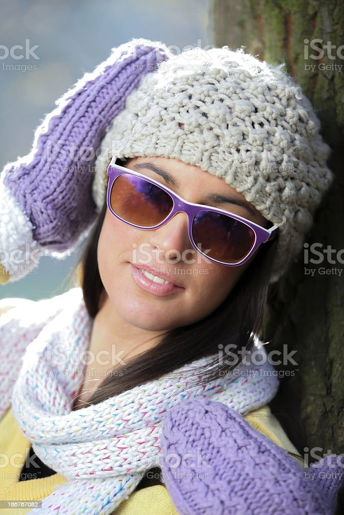Portrait with sunglasses royalty-free stock photo