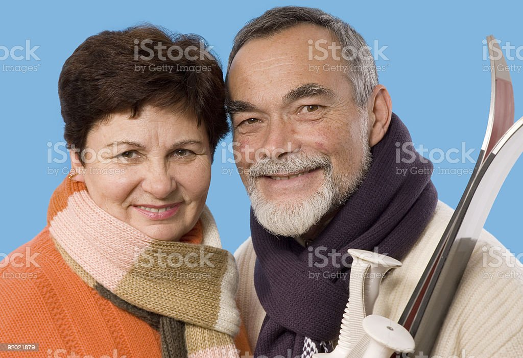 portrait with the ski royalty-free stock photo