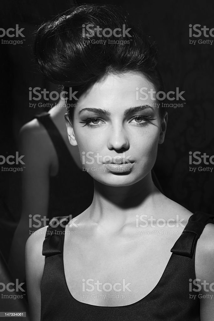 Portrait withr eflexion royalty-free stock photo