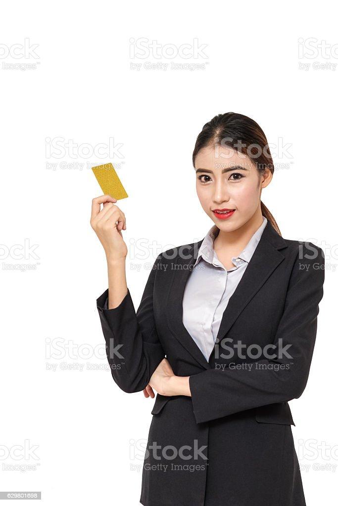 Portrait Young Businesswoman stock photo