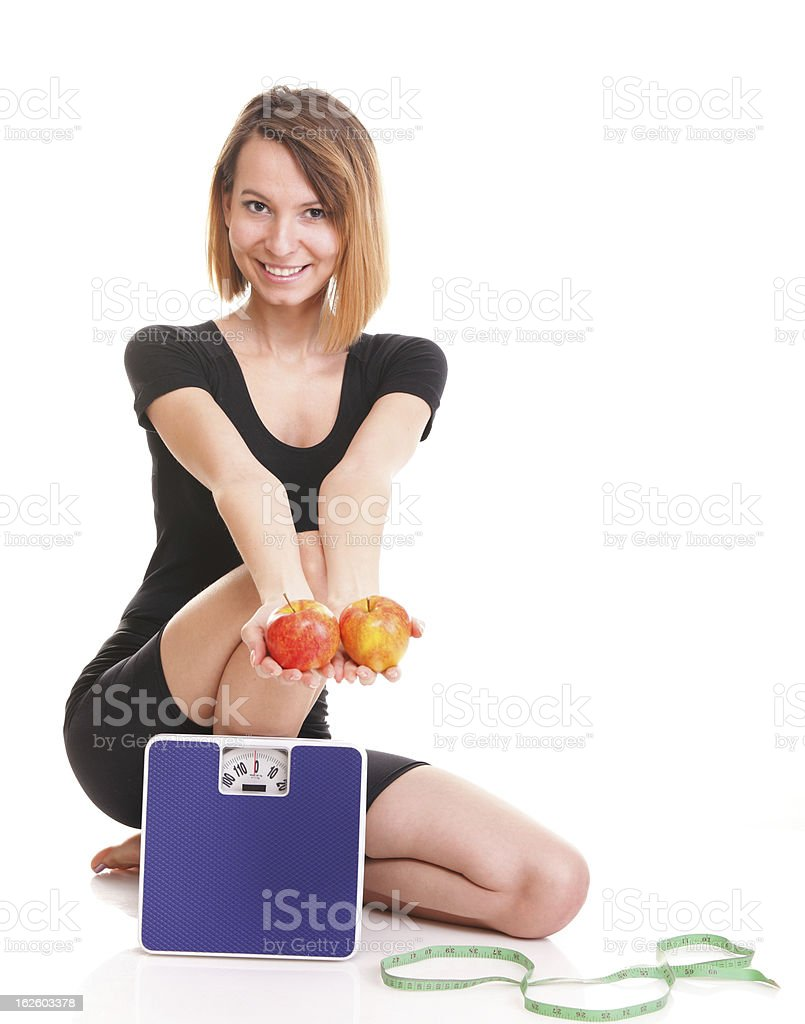 Portrait young healthy woman dieting concept royalty-free stock photo
