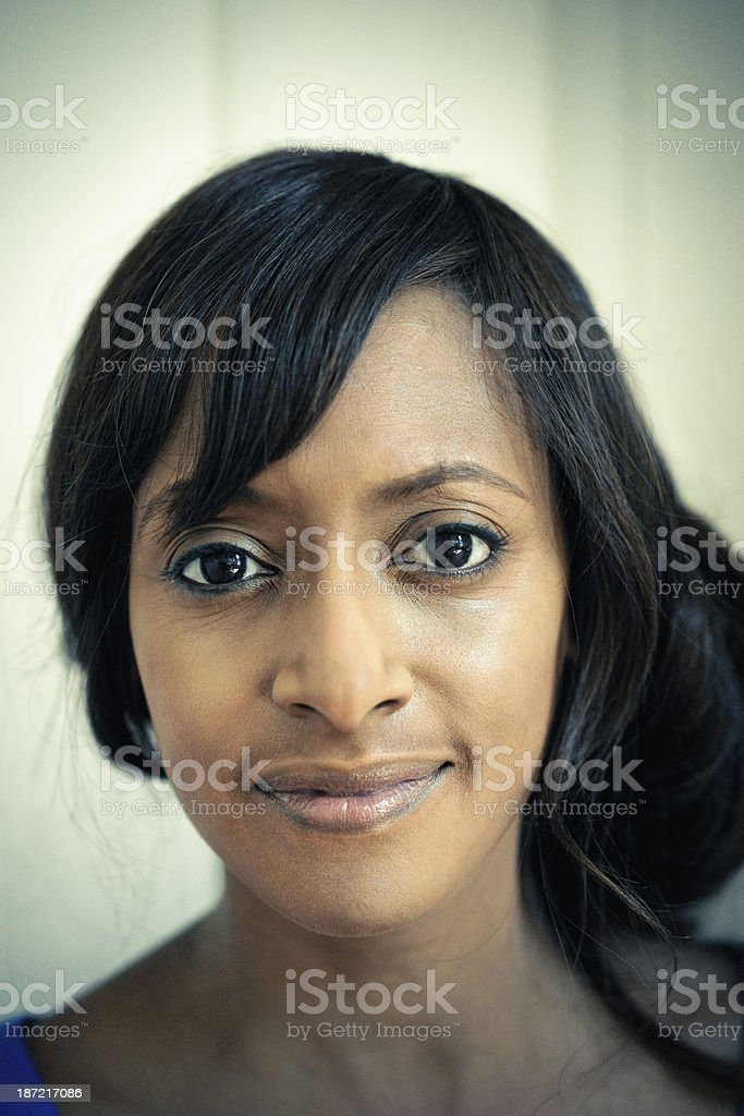 Portrait Young Woman of Indian Descent royalty-free stock photo