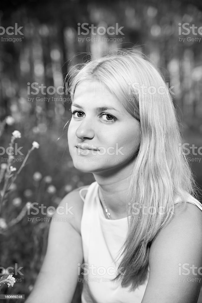 Portrait young woman royalty-free stock photo