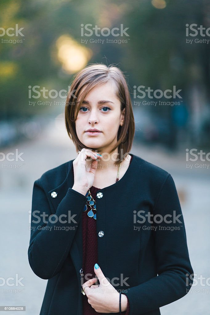 Portrait young woman stock photo