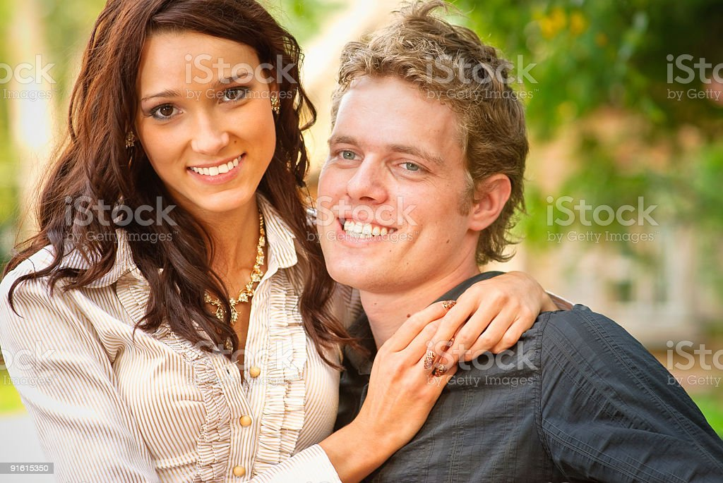 Portrait young women and men royalty-free stock photo
